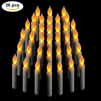 BOX of 36 Battery Operated LED Candles / Flickering Light Bulbs! (36 PCS)