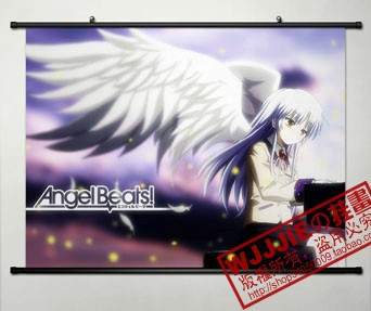 Anime Home Decor Japanese Poster Wall Scroll Angel Beats