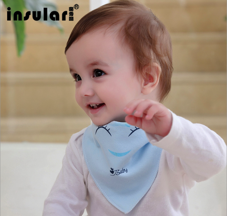 Bibs Burp Cloths Cotton Saliva Towel Scarf Baby Accessories Fashion Bib Kerchief Lovely Smiling Face