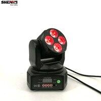 Mini LED Moving Head 4x18W RGBWA UV 6in1 Wash LED Stage Lighting Perfect For DJ Disco