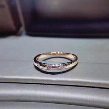 ANI 18K Rose Gold (AU750) Women Wedding Ring Certified I/SI 0.068 ct Real Diamond Wedding Band Fine Engagement Jewelry Promotion ani 18k white gold au750 engagement ring 0 3 ct certified i si round natural diamond ring women fine jewelry for bride wedding