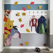 Cartoon Winnie Pooh Bee Muurstickers Voor Kinderen Kamers Slaapkamer Thuis Decora Disney Dieren Muurstickers Pvc Muurschilderingen Diy posters