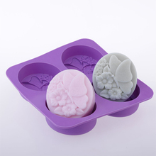 Love four-soap mold butterfly cute flower DIY handmade soap new silicone free shipping
