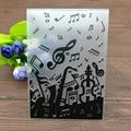 Пластиковая папка для тиснения, гитара, музыка, день рождения, альбом для украшения, режущие штампы, бумажные трафареты для рукоделия