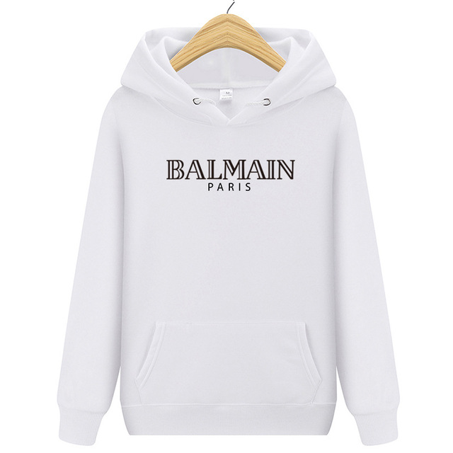2019 casual men's and women's sports hoodie cotton BALMAIN fashion streetwear