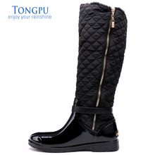 ФОТО tongpu women's sharon knee-high waterproof winter rain boots 0957