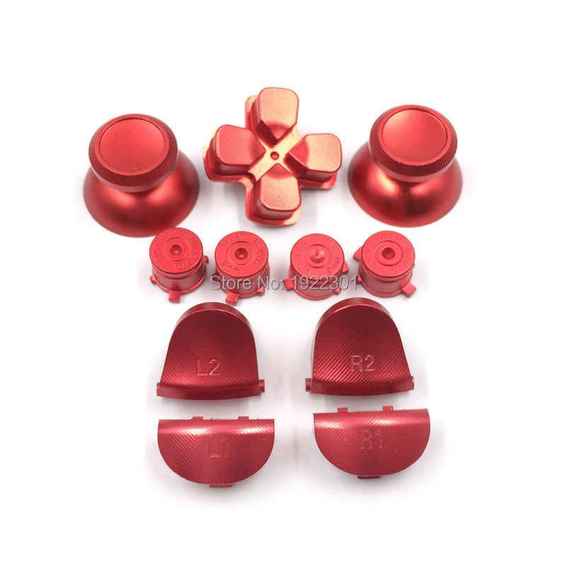 税関金属弾丸ボタンサムスティックキャップ L1 R1 L2 R2 PS4 ため Dpad アルミボタンコントローラデュアルショック 4 JDM001 JDM011