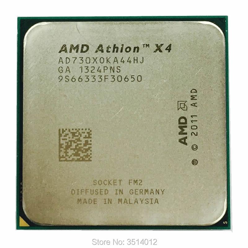 Четырехъядерный процессор AMD Athlon X4 730 2,8 ГГц, процессор AD730XOKA44HJ Socket FM2
