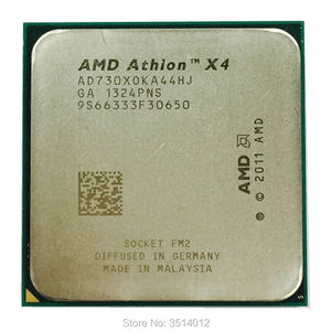 AMD Athlon X4 730 2.8 GHz Quad-Core CPU Processor AD730XOKA44HJ Socket FM2