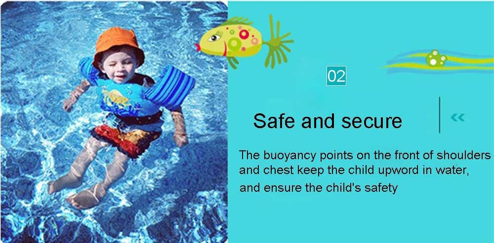 子供のライフジャケット安全保護救命ベストベビーキッズ水着安全アームリング 2-6Y インフレ-送料ブイライフジャケット