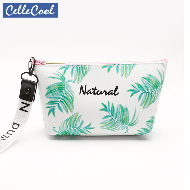 Toiletry Bags Travel Makeup Bags With Multicolor Pattern  PU Leather Cosmetic Bag Small Organizer Women Beauty Storage Wash Bag