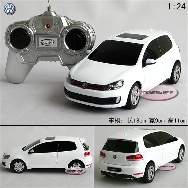 1 24 Rc Volkswagen White Remote Control Car Vw Models Educational