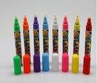 8pcs/lot liquid chalk marker pens coloured Highlighter Pens for School teacher students kids Art Painting Round&Chisel Tip