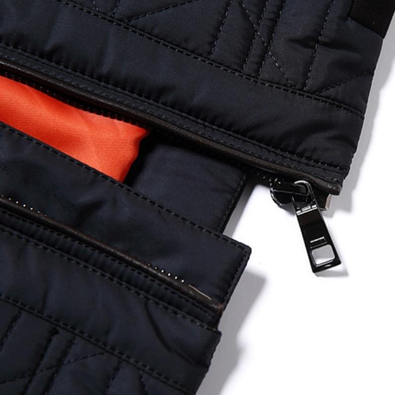 eebae854b3d ... город класса новые мужские осень куртки и пальто мода топ кэжуал  короткие стойка воротник стеганые куртки