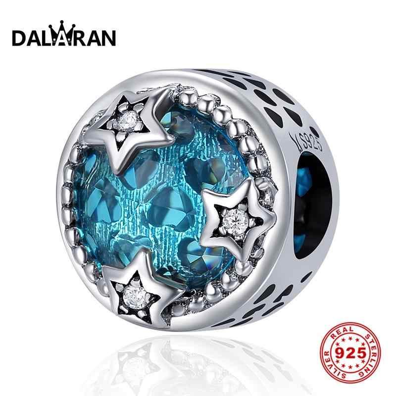 DALARAN Charms สำหรับ DIY เครื่องประดับทำลูกปัดเงิน 925 Shining Starry Sky พอดีสร้อยข้อมือ Charm สร้อยคอของขวัญ