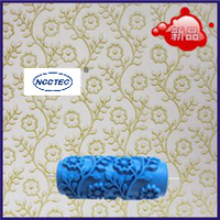 5 Rustic Decorative Pattern Wallpaper Roller Brush FREE SHIPPING 125mm Print Diy Tool Diatom Ooze Paint