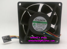 Original 8038 8 cm H814N-A00 2U servo fan MF80381V1-D000-M99 12 v 6,1 watt 4 drähte ~(China)