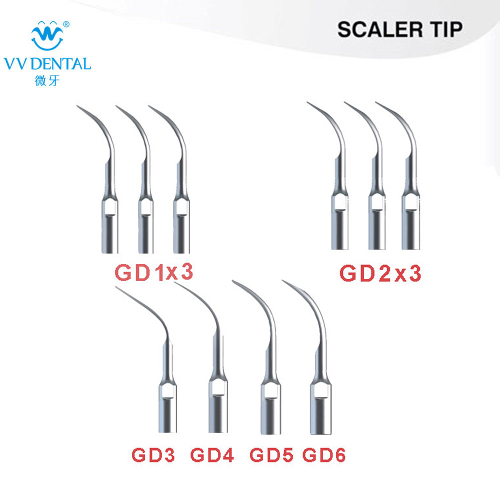 10Pcs Dental Ultrasonic Scaler tips 3XGD1 3XGD2 GD3 GD4