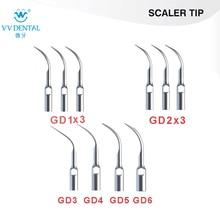Zahnmedizinische Zahnsteinentferner 6Pcs 3XGD1 3XGD2 GD3 GD4 GD5 GD6 Kompatibel mit SATELEC / DTE / GNATUS Zahnaufhellung-Ausrüstung