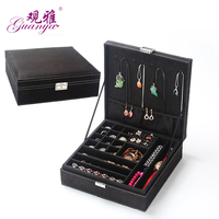 Guanya Creative Jewelry Box Big Square Carrying Case For Jewelry Travel Case Best Birthday Gift Ring