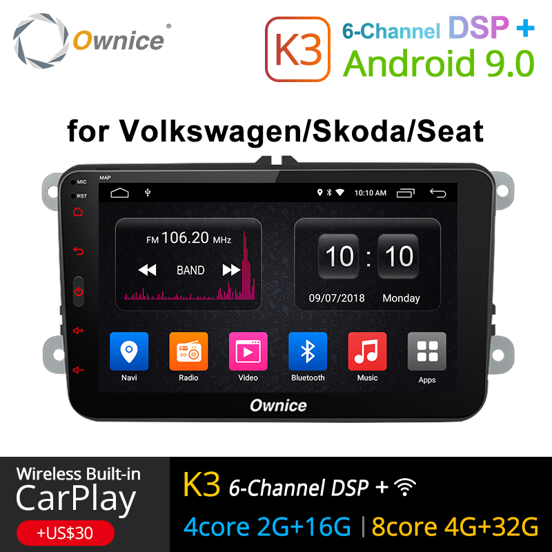 Ownice K1 K2 K3 Android 9 0 hand free bluetooth Universal 2 Din font b Car