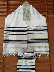 Messianic Jewish Tallit Talit Prayer Shawl & Talis Bag
