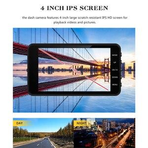 Image 5 - جهاز تسجيل فيديو رقمي للسيارات 2 كاميرات عدسة 4.0 بوصة HD داش عدسة كاميرا مزدوجة مع كاميرا الرؤية الخلفية مسجل فيديو السيارات المسجل DVRs داش كام