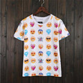 Hot fashion emoji t shirt hot style emoticons tshirt summer funny clothes unisex women/men top tees t-shirt clothing wholesales