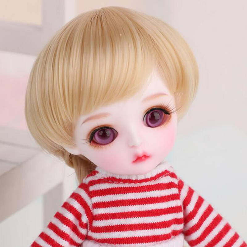 Full Set 1/8 BJD Doll BJD/SD Cute Chou Chou Miu Resin Doll For Baby Girl Gift (Doll +Clothes+Shoes +Wig ) 1 8 bjd doll bjd sd fashion cute miu with eyes for baby girl gift full set doll clothes shoes wig like picture