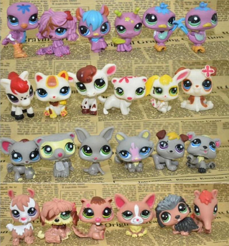 LPS Toy bag 24Pcs Shop Animals Cats Kids boy and girl Action Figures PVC LPS Toy Birthday/Christmas Gift lps lps toy bag 20pcs pet shop animals cats kids children action figures pvc lps toy birthday gift 4 5cm