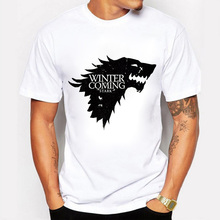 New Arriva 2017 Men Game of Thrones T Shirt Winter Is Coming printed summer style tees Men's Fashion harajuku Tee Tops brand