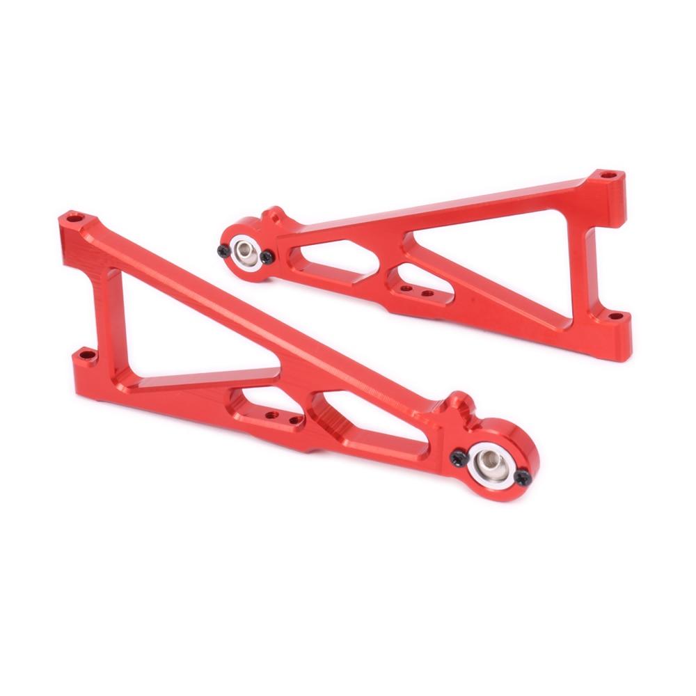 2PCS Alloy Front Lower Suspension Arm For Rc Hobby Model Car 1/10 Himoto Big Foot Monster Truck E10Mtl E10Mt E10Bp Hopup Parts