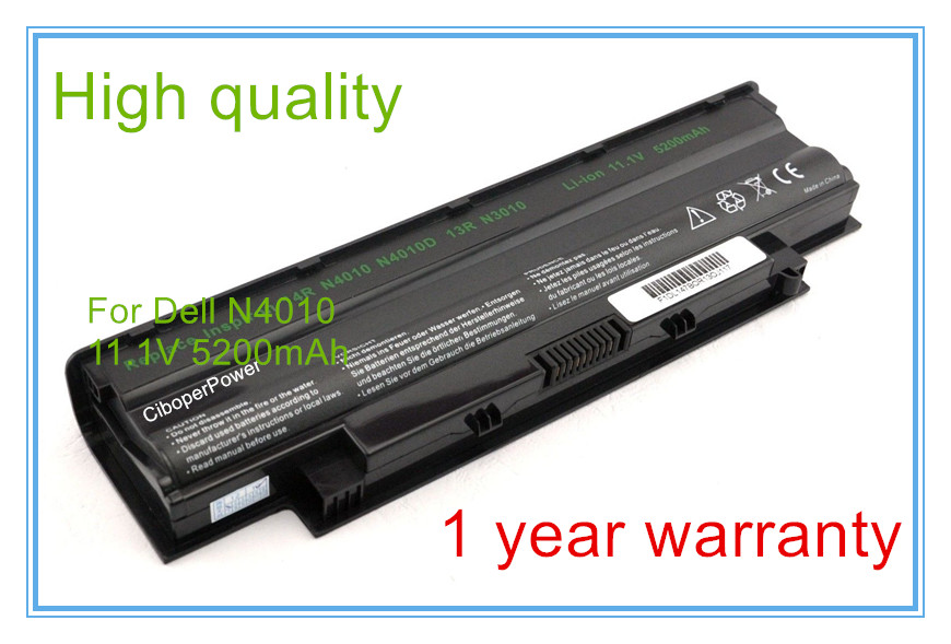 New 6cell 5200mah Battery for FMHC10 J1KND J4XDH for 13R 14R N4010 N5010 N5030 N7010 N7110 Series