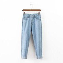 2017 летние женские брюки брюки повседневная обжима джинсы женщина высокой талией джинсы женская одежда
