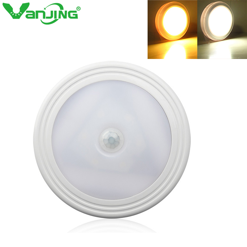 VanJing Infrared PIR Motion Sensor Night Light Magnetic Wireless Detector Light Wall Lamp Light Auto On/Off on Walkway Pathway new safurance security pir infrared motion sensor detector wall light easy to install home safety