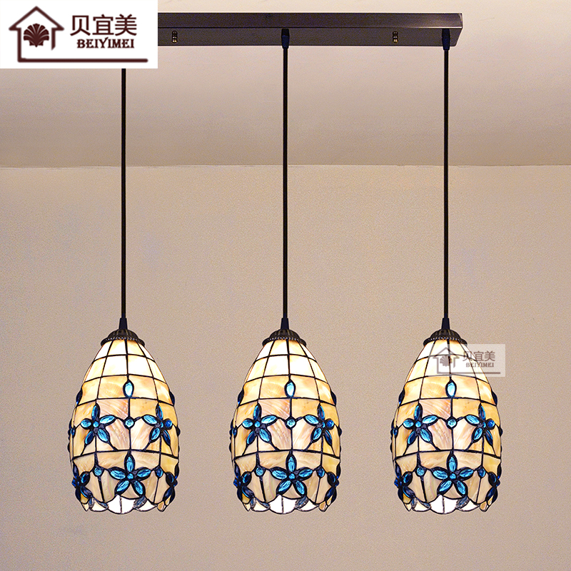 Tiffany Mediterranean style natural shell Pendant Lights lustres night light led lamp floor bar home lighting Free shipping home improvement marble stone mosaic tiles natural jade style kitchen backsplash art wall floor decor free shipping lsmb101