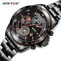 RISTOS X-Sports Quartz Watch Casual Aço Inoxidável Relógios Reloj Masculino Masculino Relógio com Data do Calendário 93019