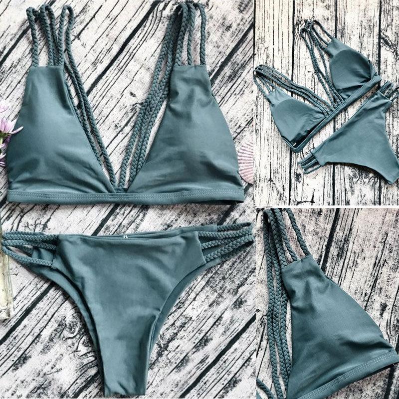 Costumi da bagno sexy Costumi da bagno Triangolo Bikini Set - Abbigliamento sportivo e accessori