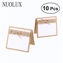 10pcs Guest Party Name Table Place Cards for Shabby Chic Rustic Wedding