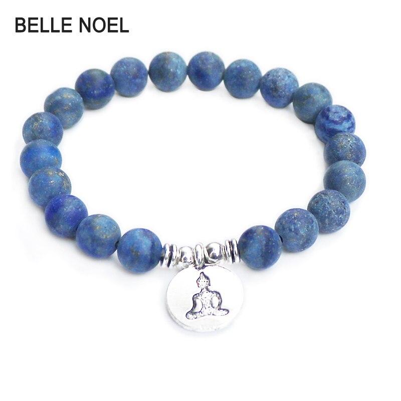 High Quality Scrub Lapis Lazuli Bracelet Natural Stone Bead Mens Bracelet Throat Chakra Spiritual Gift for Him Free Shipping