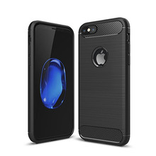 For Coque iPhone 8 Case Soft TPU Carbon Fiber Case For iPhone 6 6s 7 8 X Plus Phone Case iPhone8 Original Silicone Back Cover carbon fiber leather coated soft tpu case shell for iphone 6s 6 4 7 inch dark blue