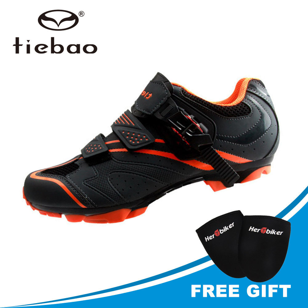 TIEBAO New Mountain Bike Shoes Cycling Shoes Auto lock Men Mtb Wear resistance Bicycle Shoes Mountain