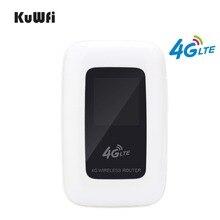 KuWfi 4G LTE 와이파이 라우터 휴대용 150Mbps 와이파이 모바일 핫스팟 4G 여행 라우터 자동차 라우터 및 모뎀 SIM 카드 슬롯