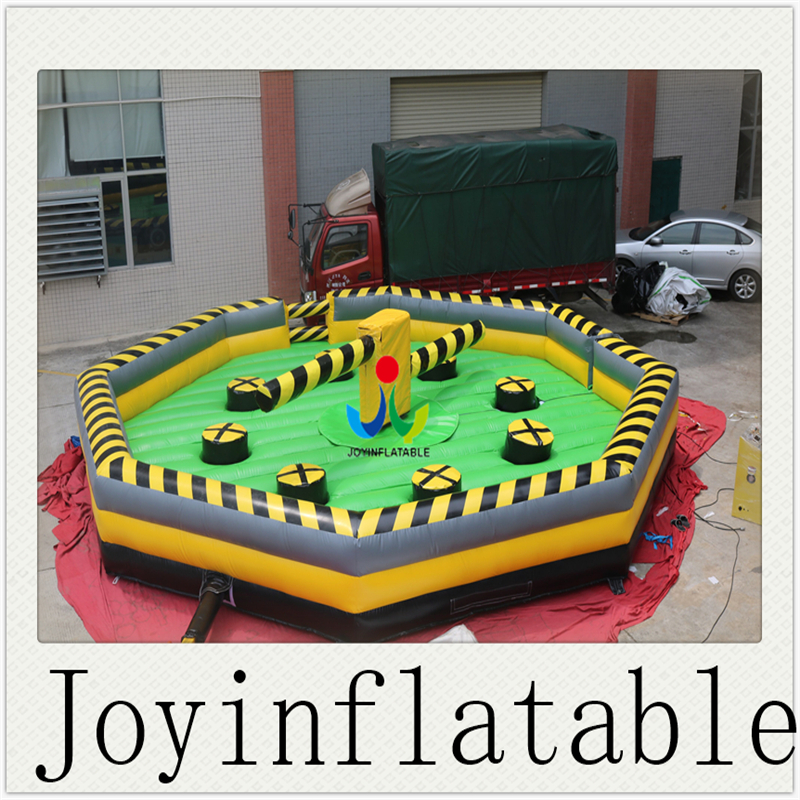 2018 Highly Quality Dia 8M PVC Tarpaulin Inflatable Sport Game Product for Kids,Inflatable Wipeout Obstacle Course machine