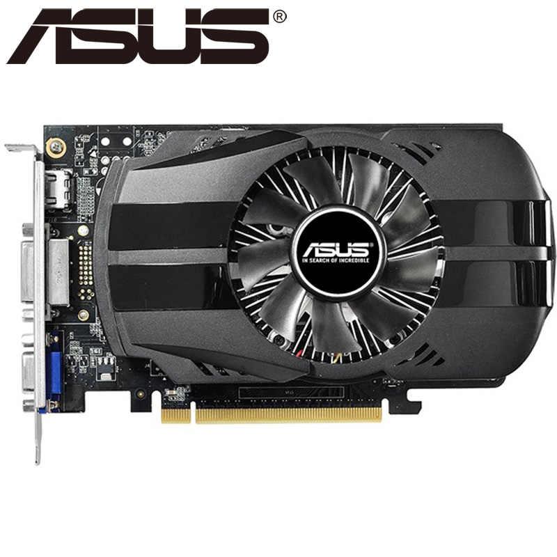ASUS ビデオカードオリジナル GTX 750Ti 2 ギガバイト 128Bit GDDR5 グラフィックスカード nvidia の Geforce GTX 750 Ti 使用 VGA カード 650 760 1050