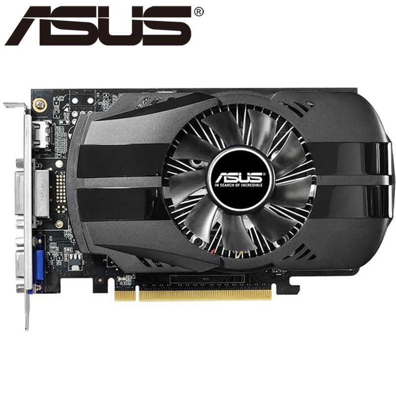 Видеокарта ASUS GTX 750Ti, 2 ГБ 128 бит GDDR5, графические карты для nVIDIA Geforce GTX 750 Ti, б/у, карты VGA 650 760 1050