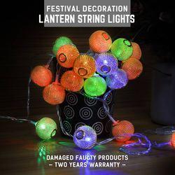 LED String światła złoty latarnia dekoracja wodoodporna lampa ciąg AC220V 5-10 W 5 M RGB String Lights Fairy oświetlenie wakacje doprowadziły