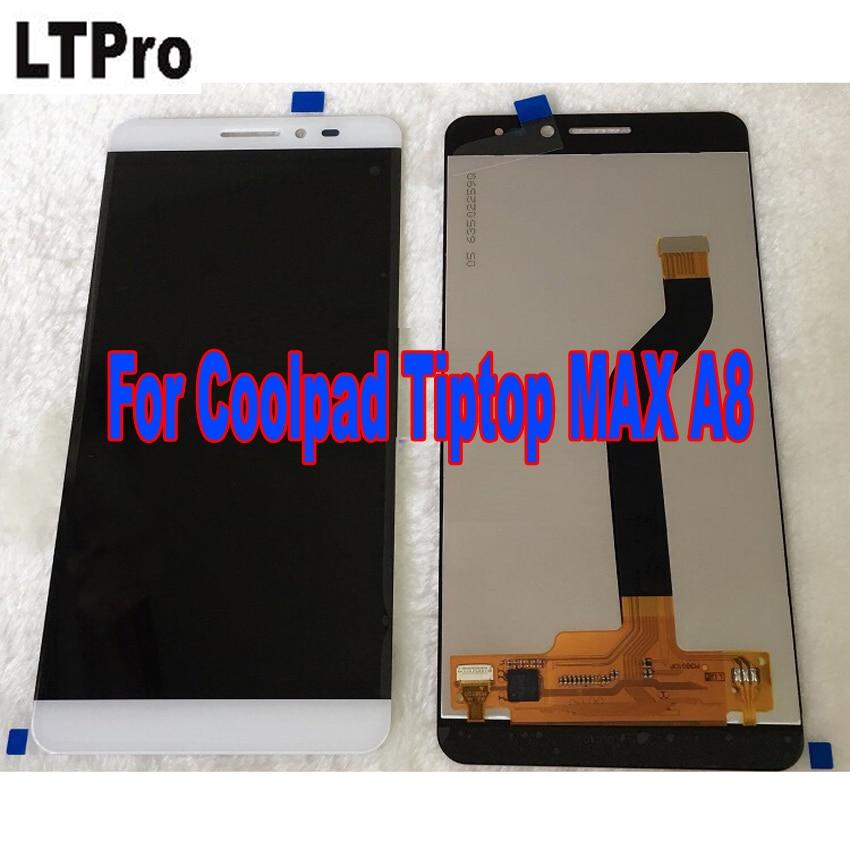 LTPro Haute Qualité Testé Travail LCD Affichage à L'écran Tactile Digitizer Assemblée Pour Coolpad Tiptop MAX A8 A8-531 A8-930 A8-831