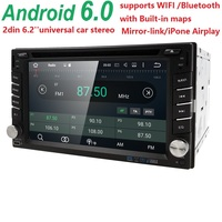 Quad Core Pure Android 5 1 Car Multimedia Player Car PC Tablet Double 2din 6 2