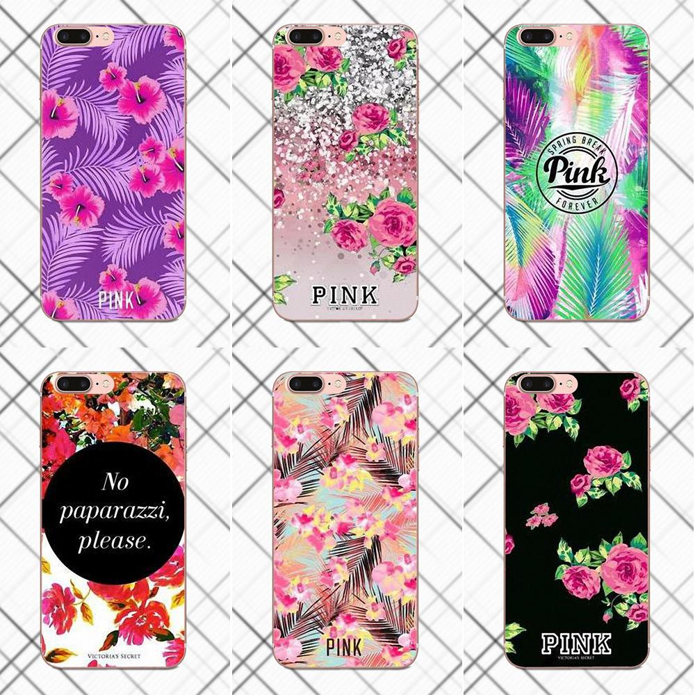 Vs Flower Pattern TPU Phone Case Cover For HTC Desire 530 626 628 630 816 820 One A9 M7 M8 M9 M10 E9 Plus U11 For Moto G G2 G3